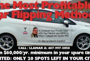 Moreno Valley Extreme Car Flip Business – 4 Evening Crash Course